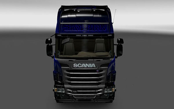 Scania Blue Scorpion Skin