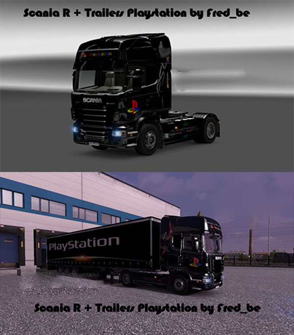 Scania R + Trailers Playstation