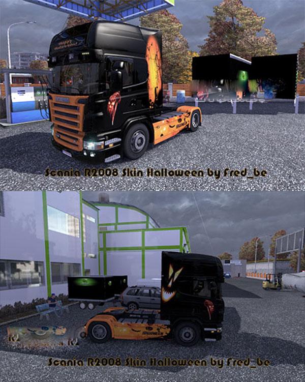 Scania R2008 + Skin Halloween
