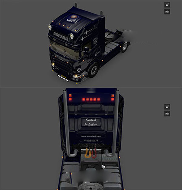 Scania R2008 toplights, waeco and back lights