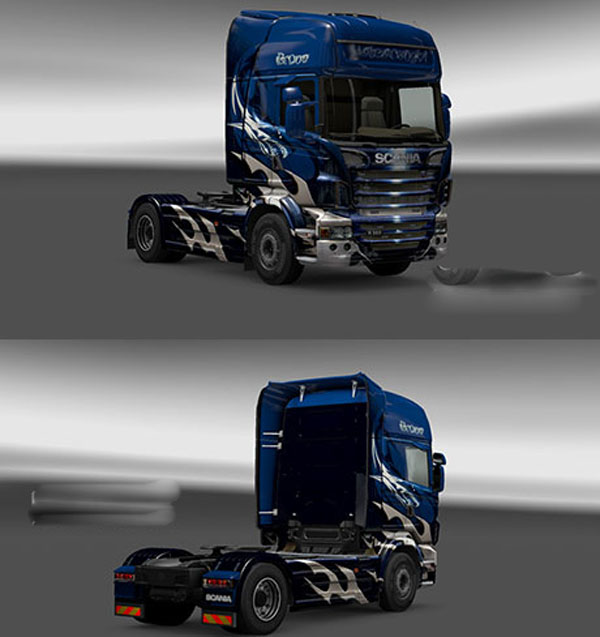 Scania White Fire Skin