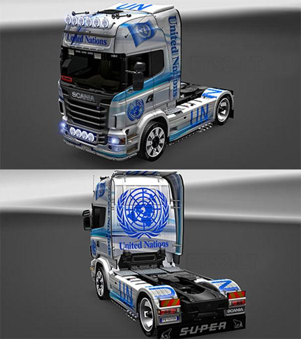 United Nation Scania skin