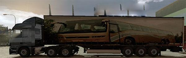 Volvo B12R trailer skin