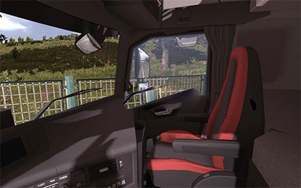 Volvo FH16 2013 black-red interior image