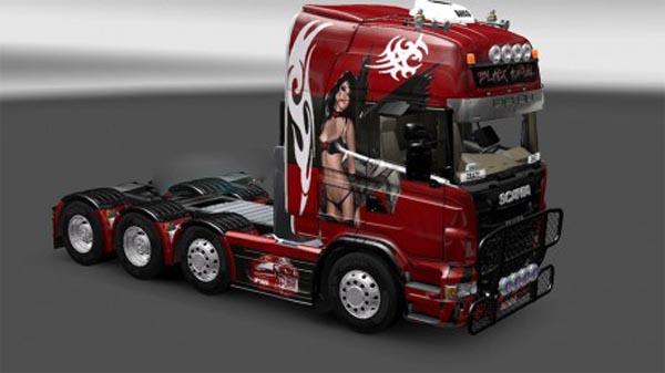 Black angel skin for Scania