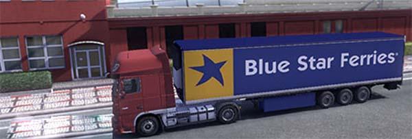 Blue Star Ferries trailer