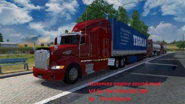 Cummins V3 sound mod for the Peterbilt 386