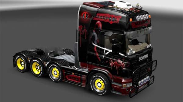 Deadpool skin for Scania