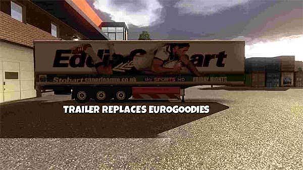 Eddie Stobart Rugby trailer