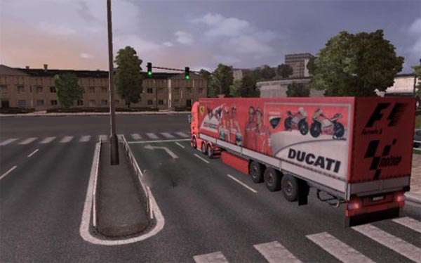 Ferrari Ducati Trailer