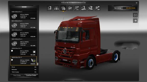 MB Actros New powers 850 & 950