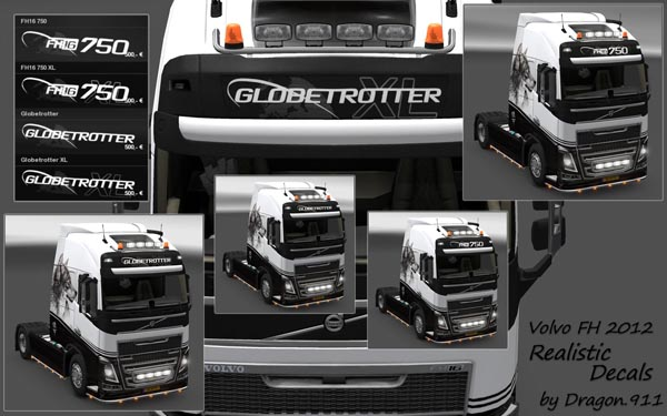 Realistic Decals for Volvo FH 2012