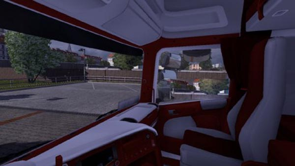 SCANIA Red & White interior 2