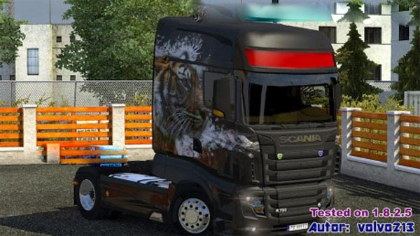 Scania R700 Tiger skin