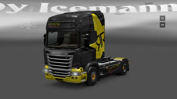 Scania Streamline Rockstar Energy skin
