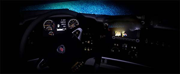 Scania V8 Gold Dashboard