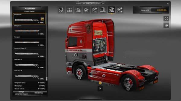 Scania V8 sideskirt