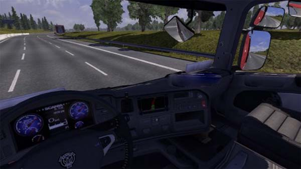 Scania blue V8 interior