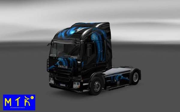 Skin Iveco Stralis Shadow Blue