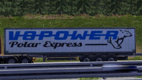 V8 Power Polar Express trailer skin