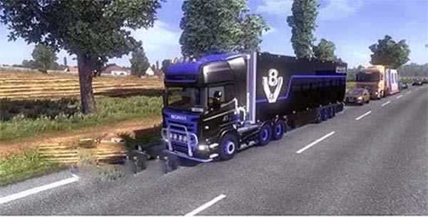 V8 Scania & trailer skin