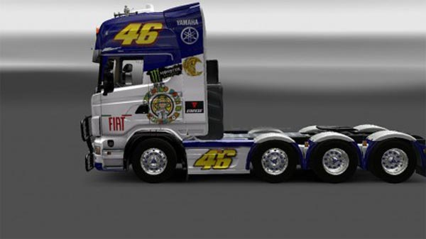 Valentino Rossi skin for Scania