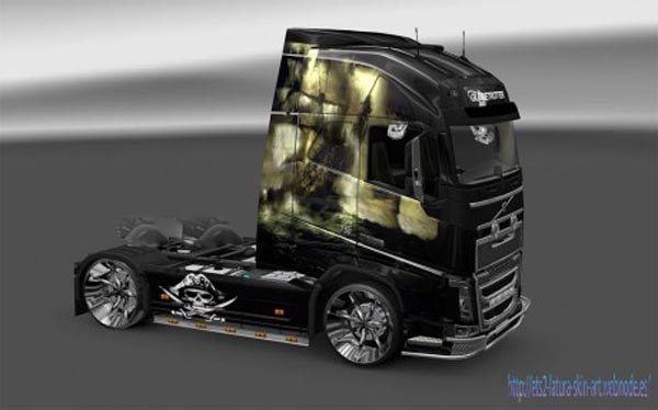 Volvo fh 2012 pirate skin ets2planet com