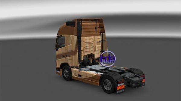 Volvo FH16 2012 Wooden Skin
