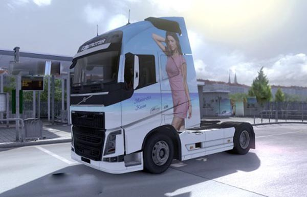 Volvo Miranda Kerr skin