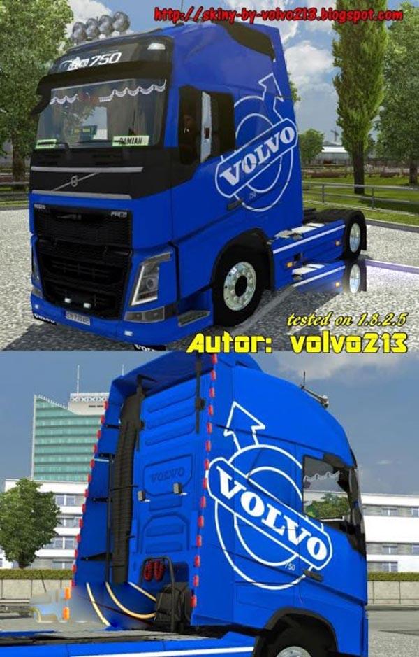 Blue Volvo FH 2012