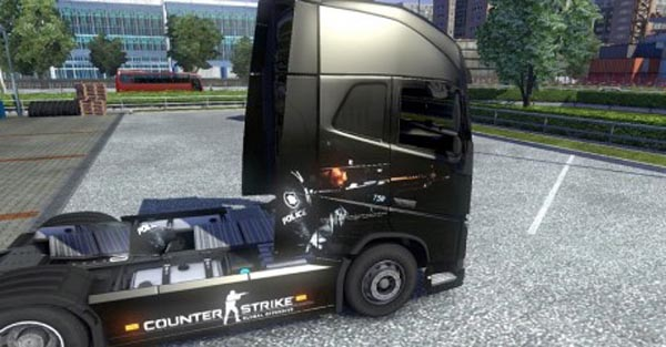 Counter Strike Global Offensive skin for Volvo FH 2012