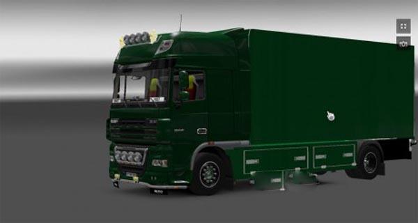 Daniel Post Daf truck tandem