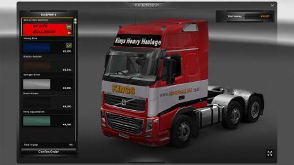 Kings Heavy Haulage Volvo skin
