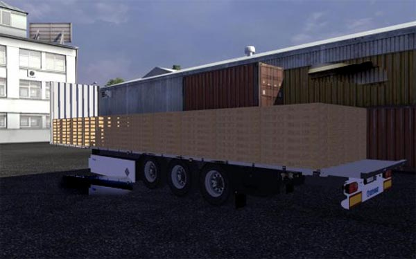 Krone Trailer with pallets