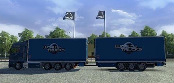 MAN + BDF Tandem and Cargo Trailers