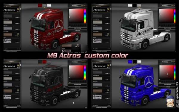MB Actros Custom Color