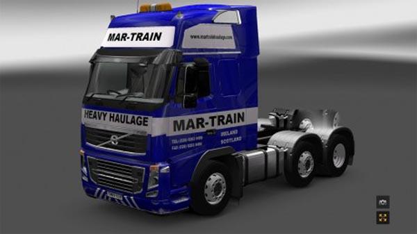 Mar-train Heavy Haulage Volvo skin