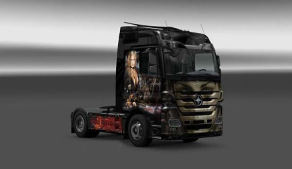 Mercedes Luis Royo Skin
