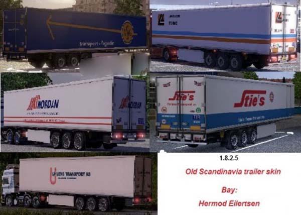 Old Scandinavien trailer skin