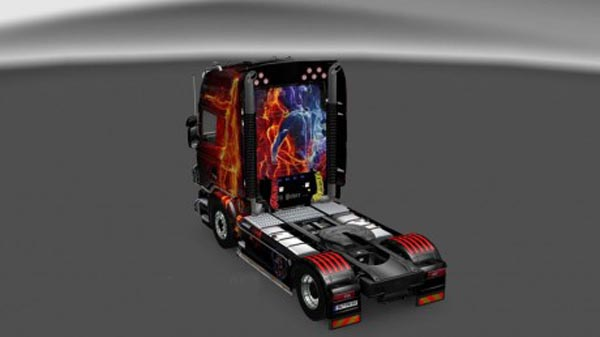 Scania Fire Girl Skin