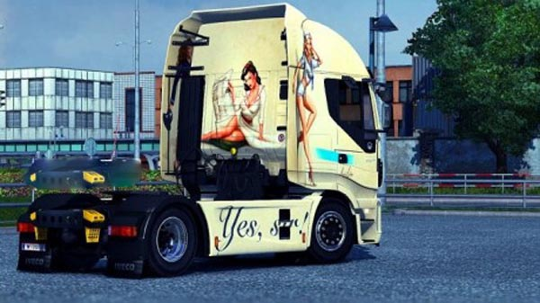 Skin Girl for Iveco Hi-Way