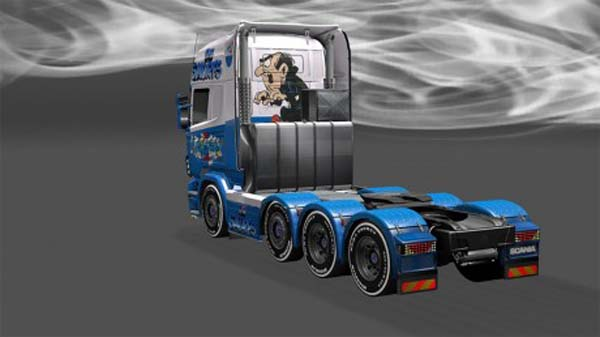 Smurfs skin for Scania