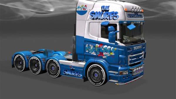 Smurfs skin for Scania