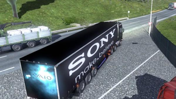 Sony trailer and Scania skin