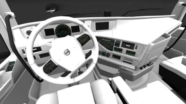 Volvo FH 2013 White Interior