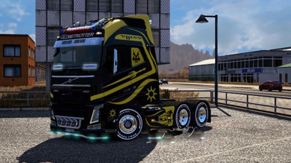 Volvo FH16 2012 Black vs Yellow