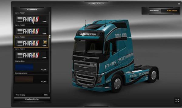 Volvo FH16 2012 Road King Skin Pack