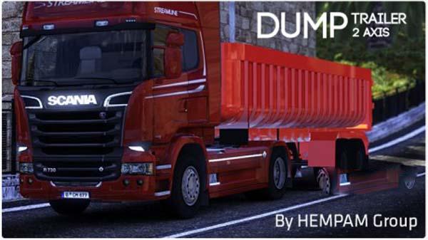 2 axis Dump Trailer