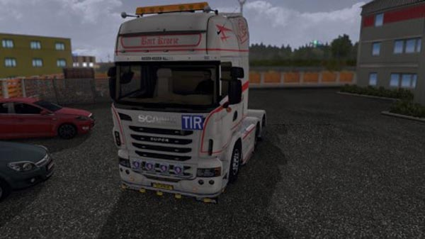 Bart Kroeze V8 Red Scania Streamline & Scania R pack