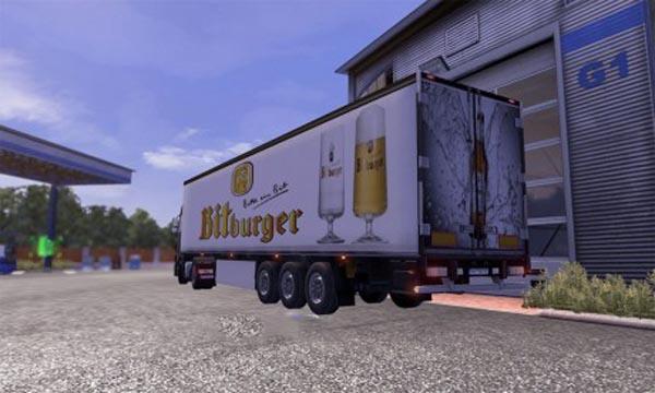 Bitburger trailer skin